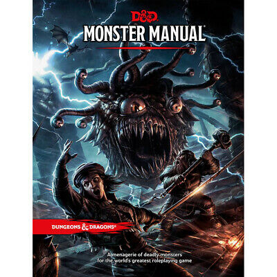AU59.50 • Buy D&D Monster Manual - Hard Cover 5th Edition Book - Dungeons And Dragons
