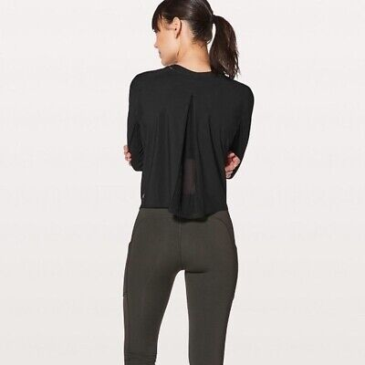 $ CDN66.72 • Buy Lululemon Play Off The Pleats Pleated Long Sleeve Black Top Shirt Sz 12 Rare New