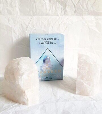 £49.99 • Buy Stunning Heavy Large Quartz Bookends Healing Crystal