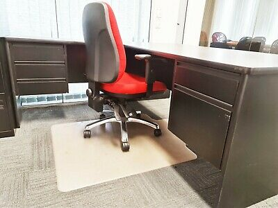 AU150 • Buy Office Corner L Desk With Drawers And Chair. Melamine Black.