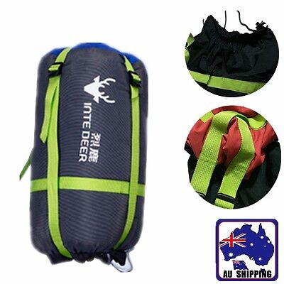 AU21 • Buy 2x Compression Sack Sleeping Bag Cover Pouch Clothing Stuff Camping OSBAV1588