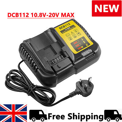 £17.79 • Buy DCB112 DCB115 Rapid Charger Replace For Dewalt 10.8V To 20V MAX Li-ion Battery