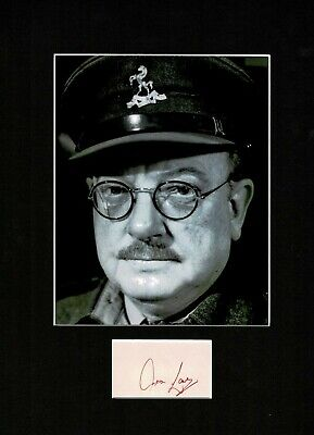 £149.99 • Buy Arthur Lowe Captain Mainwaring Dads Army  Signed Autograph Display Uacc *2