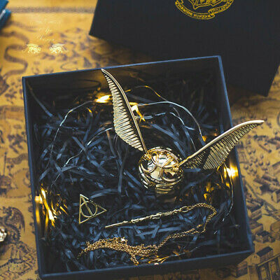 $ CDN87.72 • Buy Harry Potter Golden Snitch Ring Jewelry Storage Box Necklace Chain Birthday Gift