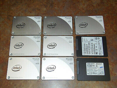 $ CDN192.55 • Buy LOT OF (9) Drives (7) 180GB (2) 256GB SSD Mixed Samsung, Intel, And Sandisk