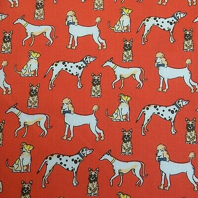 £2.59 • Buy NEW!  PolyCotton Terrier Poodle Dalmatian Dog Red Pet Metre Reduced Prices