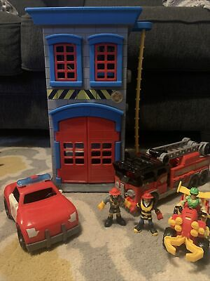 Fisher Price Imaginext Fire Station, Fire Truck, And Characters. • 18.09£