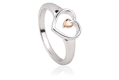 £49 • Buy NEW Welsh Clogau Silver & Rose Gold Tree Of Life Heart Ring £40 Off! SIZE L