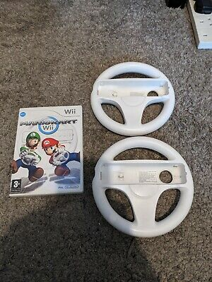 Mario Kart Complete With 2 Official Wii Wheels (Nintendo Wii, 2008) • 6.50£
