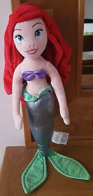 Disney Store Princess Ariel (Little Mermaid) Soft Plush Cuddly Teddy Toy Doll • 5£