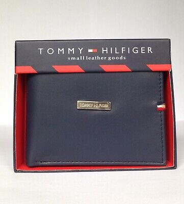 £17.99 • Buy Mens Leather Wallet 'Tommy Hilfiger' Navy Blue, Bifold, Pass Case,31TL330070