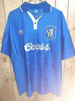 Chelsea 1996/97 Umbro Home Jersey/Shirt, Size XL With Sponsor Damage • 0.90£