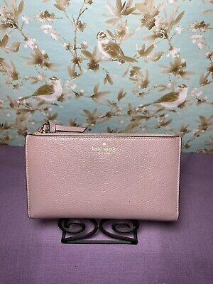 $ CDN19.55 • Buy ~Kate Spade New York~ Clutch Wallet Pink Leather Double Zip Bi-fold