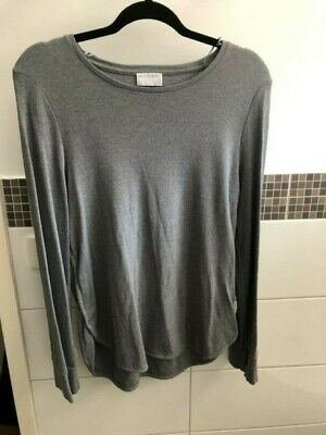 AU15 • Buy Witchery Blue Grey Toned Long Sleeve Top Size Xl Worn Once As New