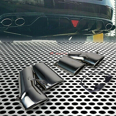 $ CDN178.52 • Buy Fit For 18-20 Accord Sport&Touring 4DR Rear End Quad Exhaust Tip Pipe Chrome