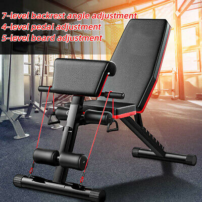 £52.99 • Buy Weight Dumbbell Sit-up Bench 7 Incline Adjustable Folding Workout Fitness Bench