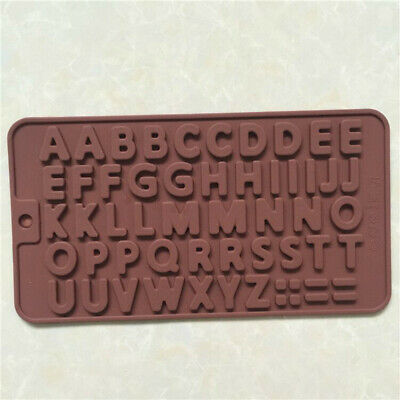 Silicone 26 Letter Alphabet Cake Mould Chocolate Fondant Cookies Ice Mold  • 2.99£
