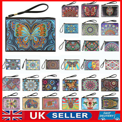 £8.25 • Buy Ladies Clutch Bag Wristlet Purse Wrist DIY Special Shaped Diamond Painting Pouch