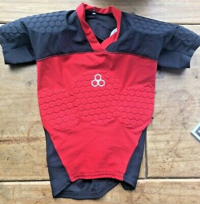 McDavid Hexpad Rugby Shirt Armoured T Shirt Size 60 - 75 CmChest • 26£