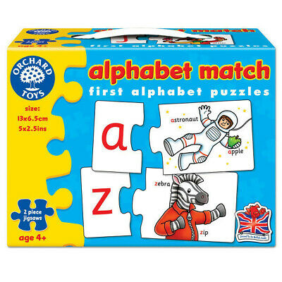 £7.99 • Buy Orchard Toys Alphabet Match - 26 Two-piece Puzzles Jigsaw Puzzle