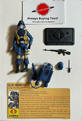 $ CDN18.88 • Buy Cobra Air Trooper W/ File Card Complete GI Joe 25th Anniversary Figure