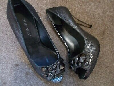 Nine West Gorgeous Pewter Party Heels Size 3 • 2.50£