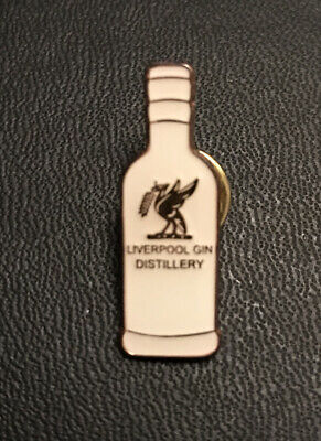 Liverpool Gin Pin Badge Bottle Cream Rose Gold Enamel • 5£