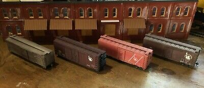 $ CDN31.52 • Buy Model Railroads Trains HO Scale Lot Of (4) Jersey Central Freight Cars #101