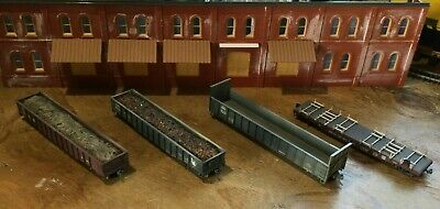 $ CDN31.52 • Buy Model Railroads Trains HO Scale Lot Of (4) Jersey Central Freight Cars #102