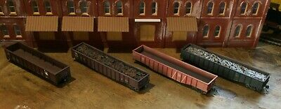 $ CDN31.52 • Buy Model Railroads Trains HO Scale Lot Of (4) Jersey Central Freight Cars #109