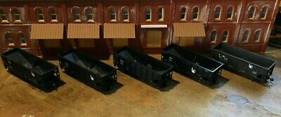 $ CDN31.52 • Buy Model Railroads Trains HO Scale Lot Of (5) Jersey Central Freight Cars #110