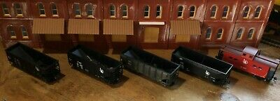 $ CDN31.52 • Buy Model Railroads Trains HO Scale Lot Of (5) Jersey Central Freight Cars #112
