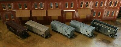 $ CDN31.52 • Buy Model Railroads Trains HO Scale Lot Of (5) Jersey Central Freight Cars #115