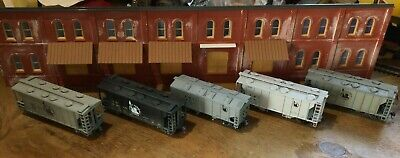 $ CDN31.52 • Buy Model Railroads Trains HO Scale Lot Of (5) Jersey Central Freight Cars #116