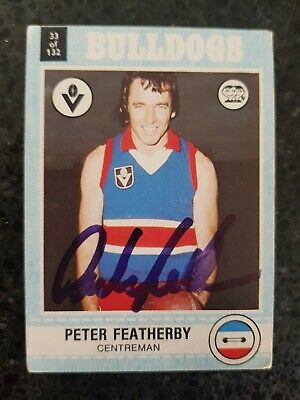 AU9.99 • Buy Footscray Western Bulldogs Afl Signed Card Peter Featherby