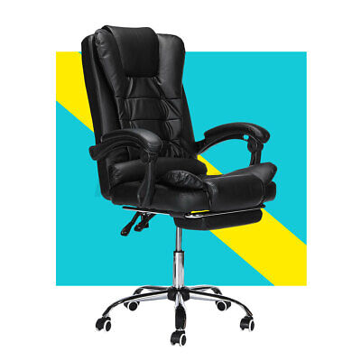 £67.09 • Buy Luxury Massage Computer Office Desk Seat Gaming Chair Swivel Recliner & Footrest