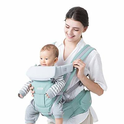 Maydolly Baby Carrier With Hip Seat 3 In 1 Infant Front Carrier Baby Sling For • 40.99£