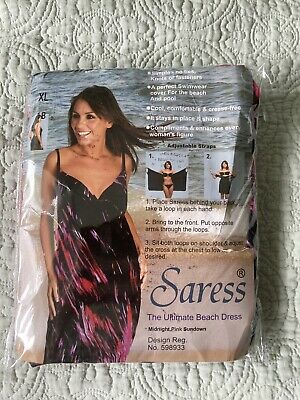 Saress Midnight Pink Sundown Calf Length Size XL New In Bag • 6.99£
