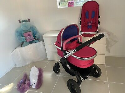 ICandy Peach Bubblegum Stroller And Cot Plus Extras • 350£