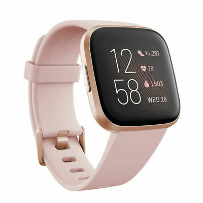 $ CDN190.29 • Buy Fitbit Versa 2 Health And Fitness Smartwatch, Petal/Copper Rose Aluminum