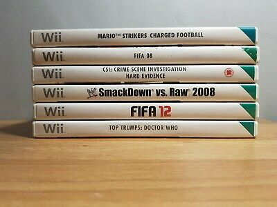 £19.95 • Buy Nintendo Wii Boys 6 Game Bundle Complete & Fully Tested Mario, Fifa, Smackdown.