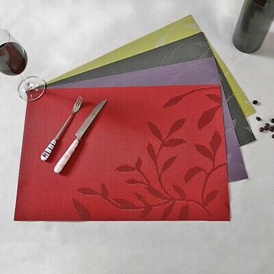 AU5.25 • Buy PVC Place Mats Coasters Dining Table Placemats Non-Slip Washable Gadget CH