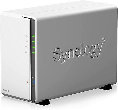 Synology DS220j 2 Bay Desktop NAS 6TB (2x3TB) Installed Ready To Use.BESPOKE ROB • 439.99£
