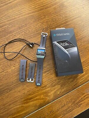 AU60 • Buy Fitbit Ionic Fitness Smart Watch - Grey/Charcoal - Preowned
