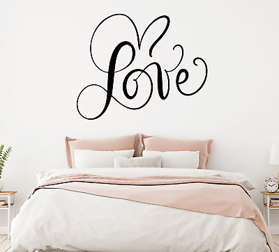 Wall Art Sticker Love Forever Bedroom Removable Home Decor Decals, DIY Quotes D • 2.49£