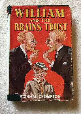 Richmal Crompton , William And The Brains Trust , First Edition , 1945 , DJ • 85£
