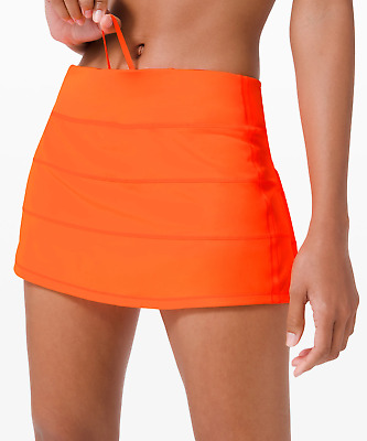 "$ CDN152.23 • Buy Lululemon Pace Rival Skirt Regular 13"" ~highlight Orange~10~  Free Ship"