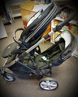 Britax B-Dual Double And Single Pushchair Buggy Pram • 210£