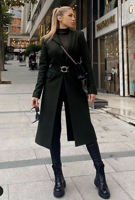 £80 • Buy Zara Aw2021 Limited Edition Belted Coat With Buckle Size M Bloggers Bnwt Trinny