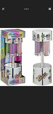 MILLIONS LARGE SWEET DISPENSER MACHINE + 8 X 16g BAGS OF MILLIONS SWEETS EASTER • 0.99£
